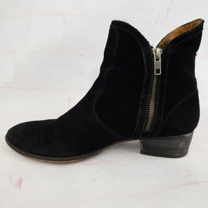 Seychelles lucky penny 8.5 black suede booties